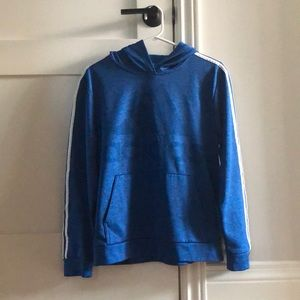 Blue Athletic Adidas Hoodie (Unisex)